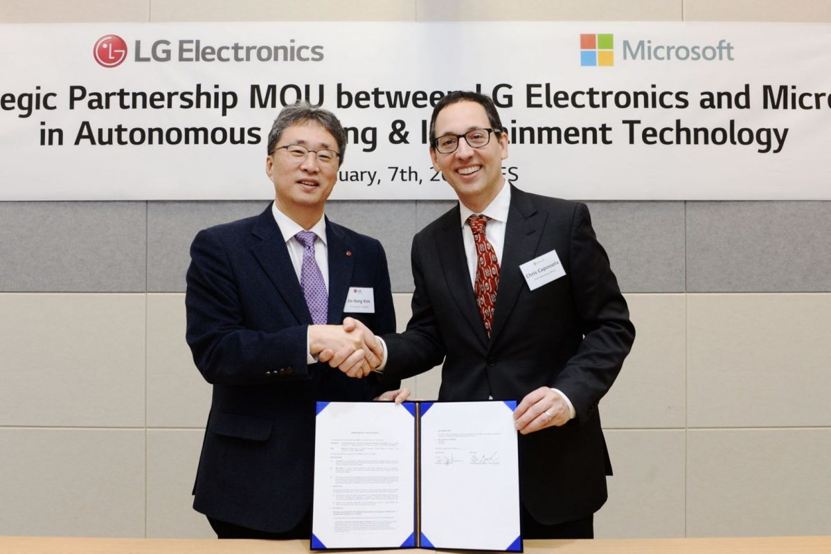 Η LG και η Microsoft φέρνουν την επανάσταση στην αυτοκινητοβιομηχανία