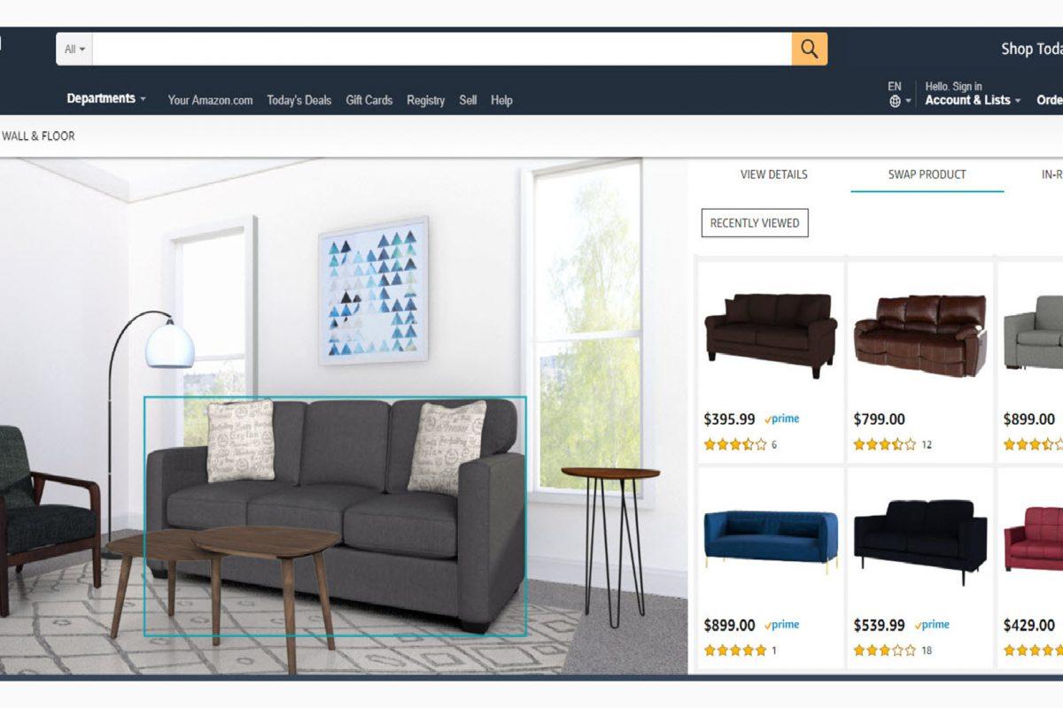 Amazon Showroom: ταιριάξτε έπιπλα, χρώματα και διακόσμηση και δείτε το αποτέλεσμα πριν την αγορά.