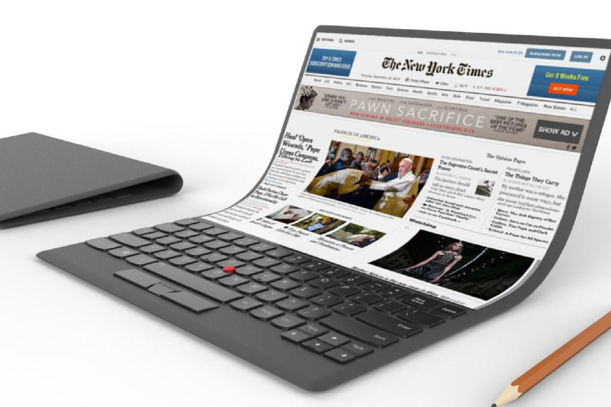 Η Lenovo ετοιμάζει laptop με αναδιπλούμενη οθόνη OLED!