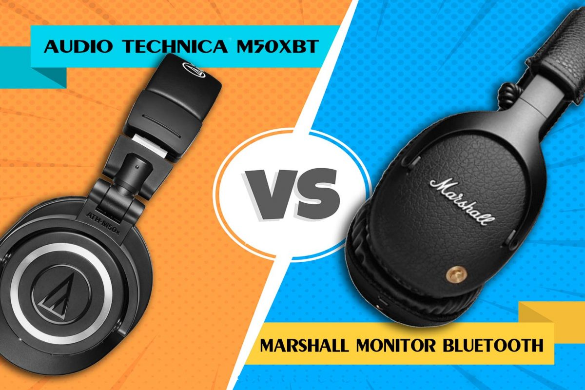 Audio Technica M50XBT vs Marshall Monitor Bluetooth: Προσιτά, ασύρματα over the ear για το κινητό!