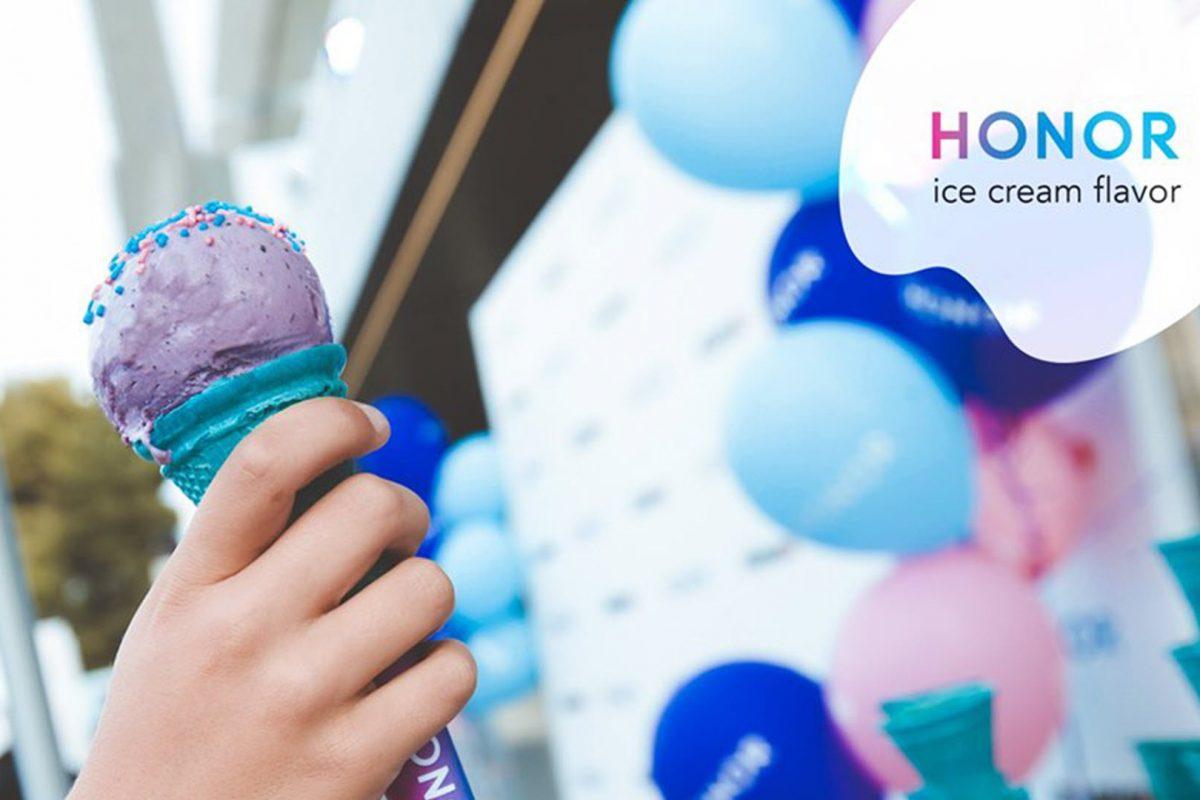 Τα HONOR τα πρώτα Smartphones με το δικό τους παγωτό!