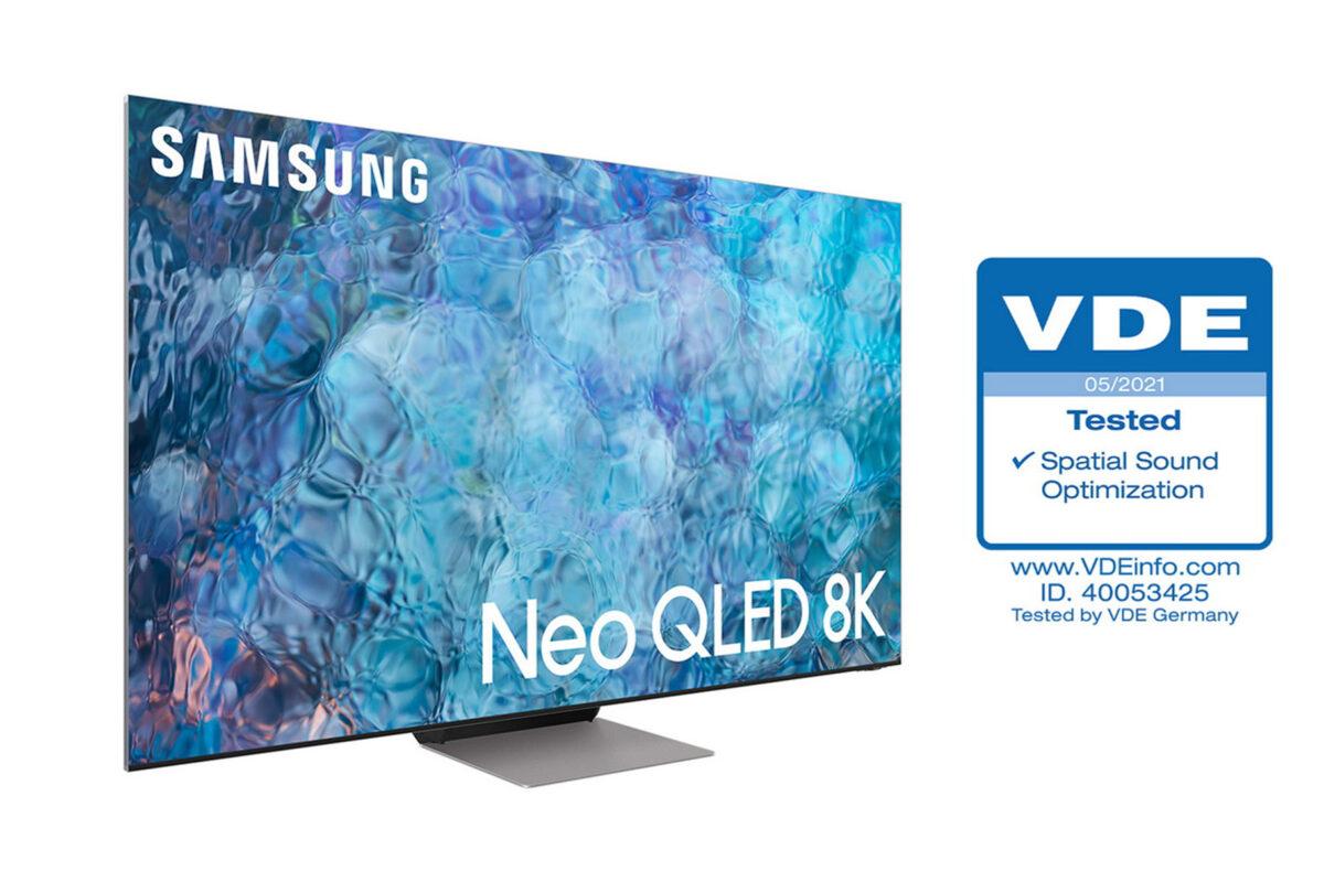 Οι τηλεοράσεις Neo QLED της Samsung λαμβάνουν πιστοποίηση βελτιστοποίησης ήχου σύμφωνα με τον περιβάλλοντα χώρο από τον οργανισμό VDE
